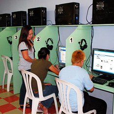 Internet Cafe Using Palau Telecoms Internet Services